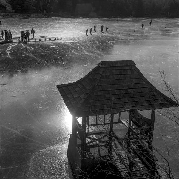 Ice Skating on a Frozen Lake - Mohonk, New work Circa 1989