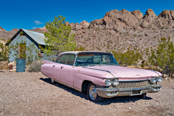 Pink Cadillac Photography Art | frednewmanphotography