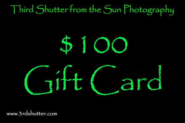 $100 Gift Card | Third Shutter from the Sun Photography