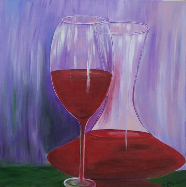 Carafe Of Wine Art | Marie Art Gallery