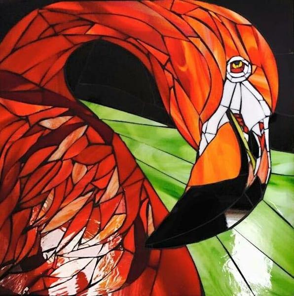 """Flamingo"" Art   artloversgallery"