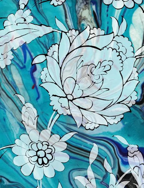 Iznik Palace Flower No. 1 Art | Elena Lipkowski Fine Arts, LLC