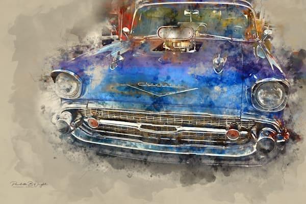 Bright Blue Chevy
