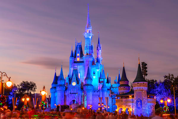 Cinderella's Castle at Dusk - Disney World Images | William Drew Photography