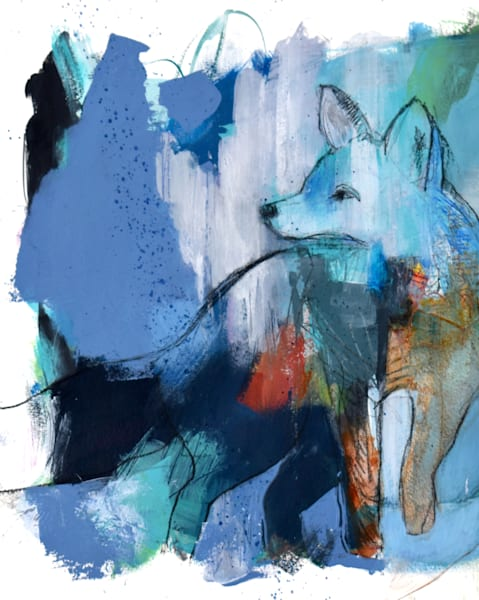 fox abstract painting