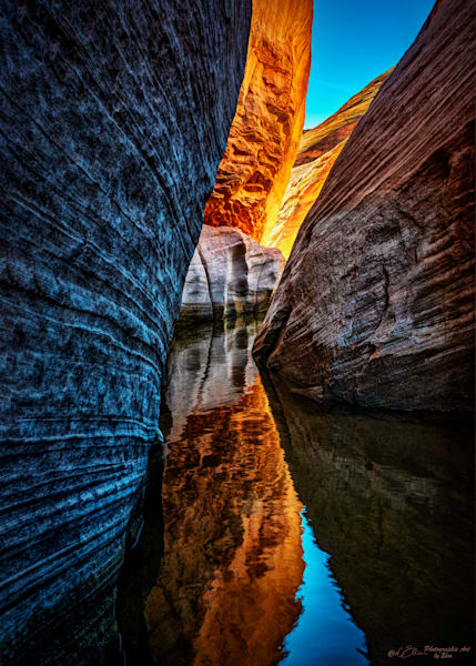 Lake Powell Slot Canyon Reflections Photography Art | D'Ellis Photographic Art