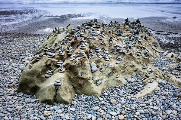 Rock Covered With Cairns Photography Art   frednewmanphotography