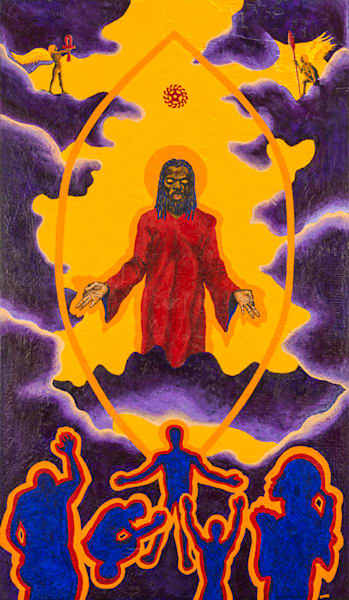 Ascension I: The Son Of Man Ascends Art | Damon Powell - Artist & Theologian