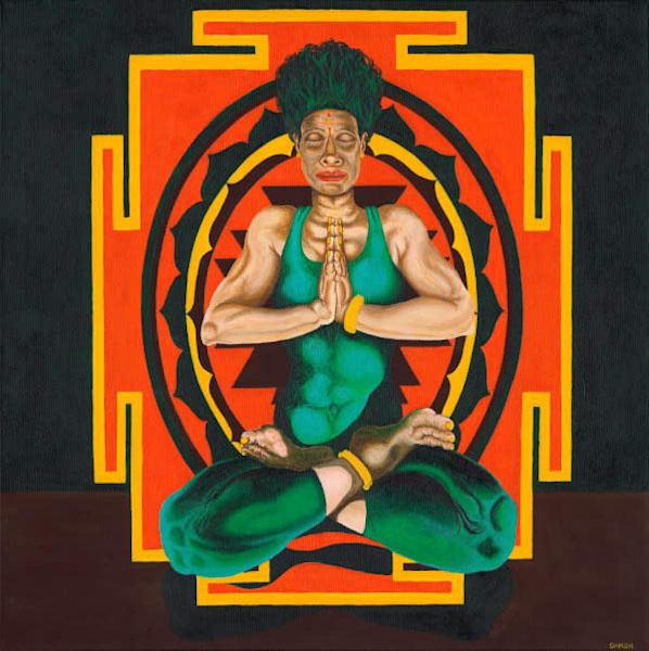 Full Lotus   Padmasana Art | Damon Powell - Artist & Theologian