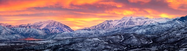 heber valley february sunset