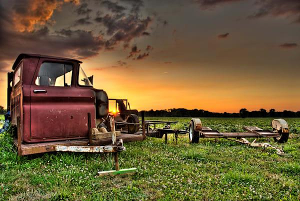 Rusty Sunset Art | Cincy Artwork