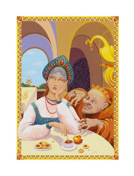 Tsar Maiden and the Tsar, limited edition print