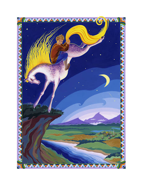 Magical Mare is Tamed by Ivan, limited edition print of an original acrylic illustration
