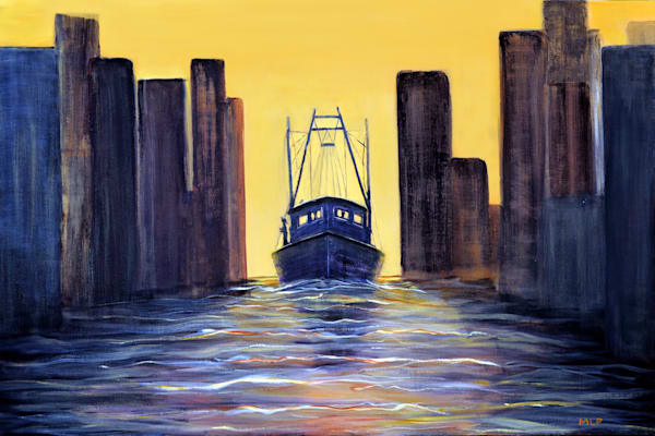 M Phillip   Coming Into Harbor  Art | Branson West Art Gallery - Mary Phillip