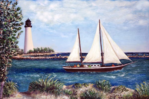 MPhillip-Wood-Sailboat-Lighthouse