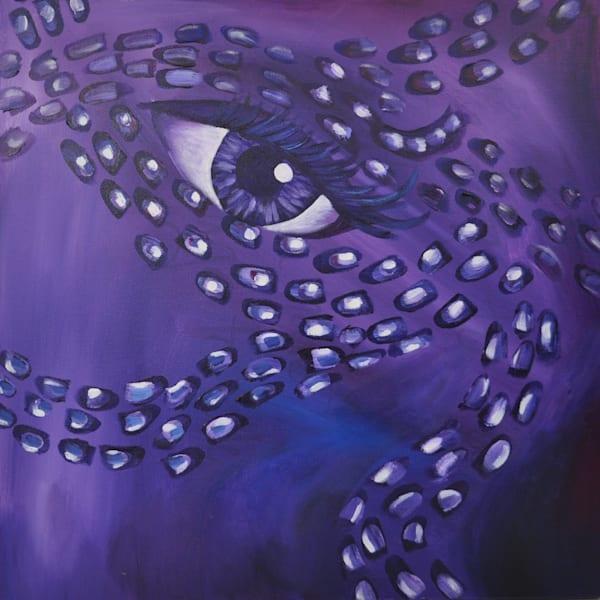 purple, print,  square, eye