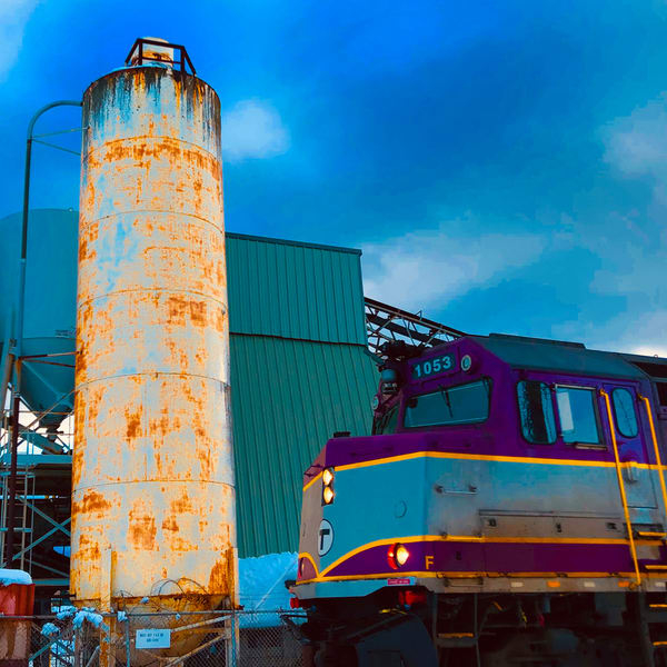 Train And Silo Art | capeanngiclee