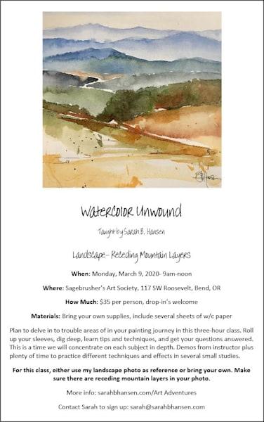 Watercolor Unwound   March 2020 | sbhansenart