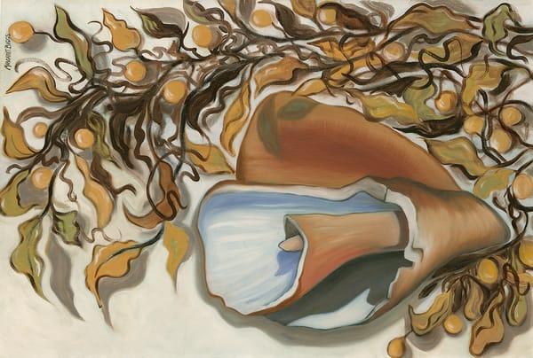 "Beach Debris 36x24"" Art | Margaret Biggs Fine Art"