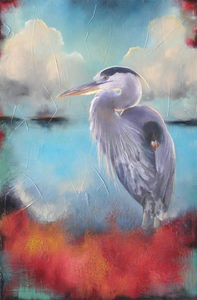 Heron I | Lisa Lamoreaux Fine Art