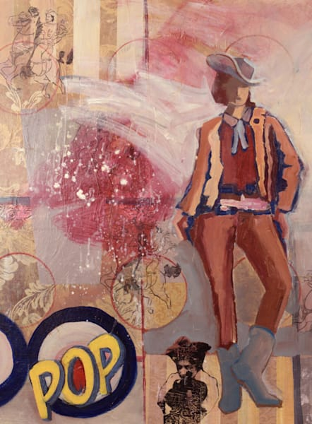 Cowgirl POP available for sale as a print on fine art paper, canvas and metal
