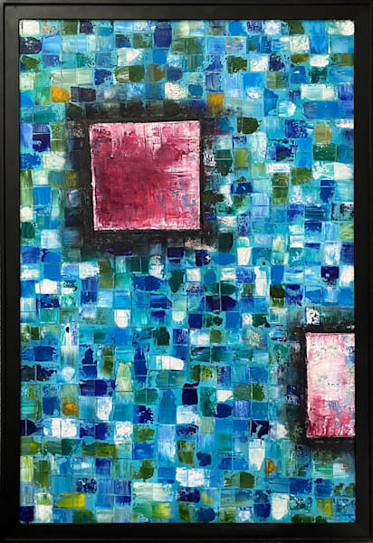 Mosaic Squared abstract original painting