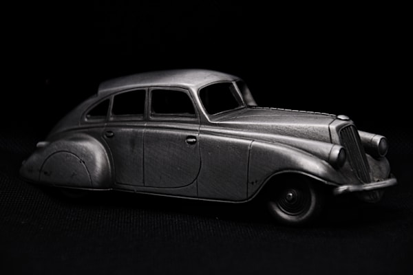 1933 Pierce Silver Arrow In Pewter by Keith R Wahl, Made From RI Gallery