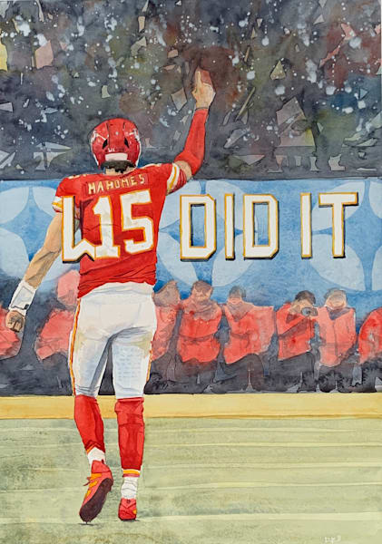 watercolor, patrick-mahomes, chiefs, super-bowl-art, art, football