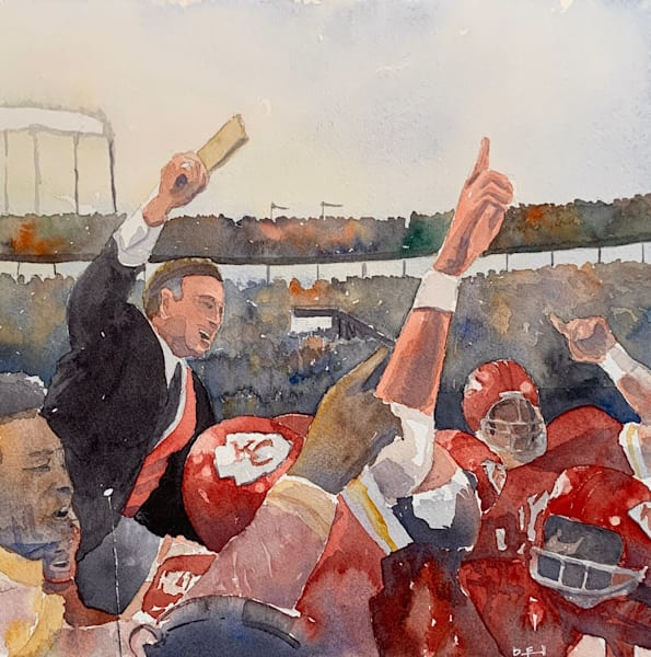 watercolor, chiefs, hank-stram