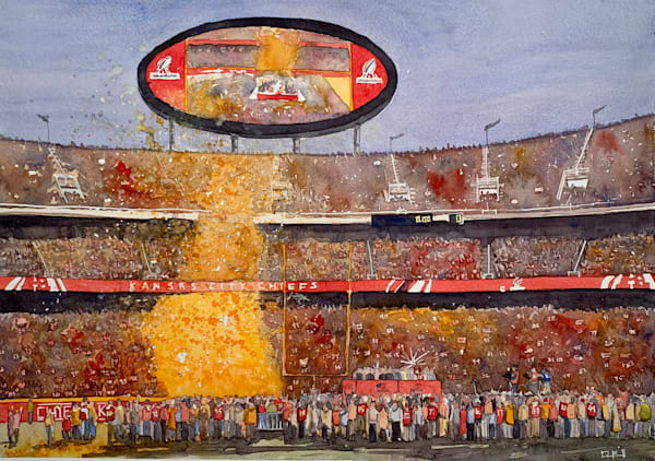 chiefs, afc-champions, watercolor, lamar-hunt