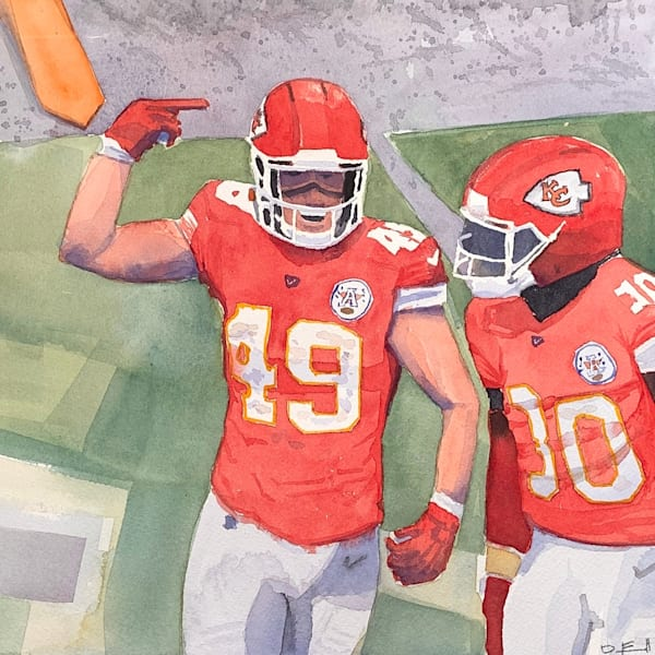 watercolor, chiefs, sorrensen