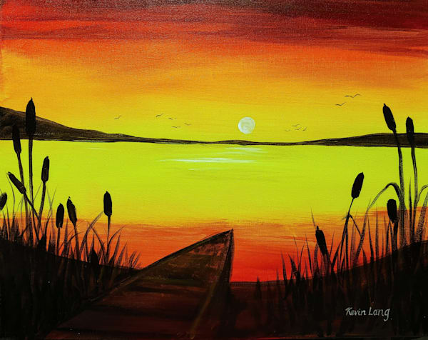 Let's Paint At Waverly Beach 6 30 20 | Kevin Lang Fine Art