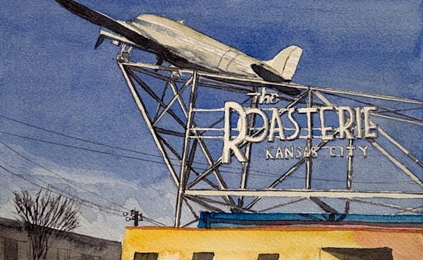 watercolor, roasterie, kansas-city-art