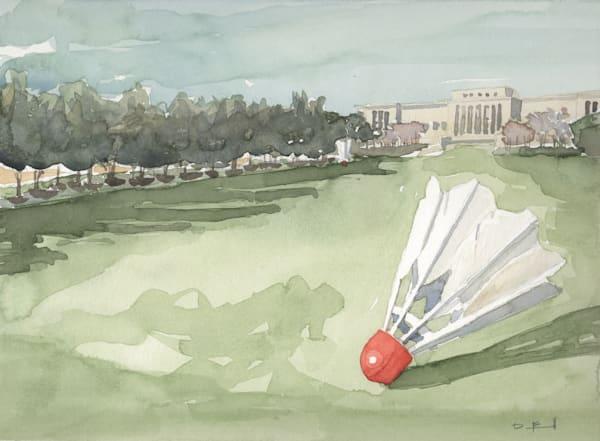 watercolor, nelson-atkins, shuttlecocks