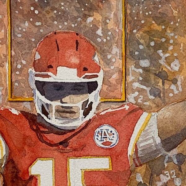 watercolor, patrick-mahomes, mahomes, portrait, chiefs