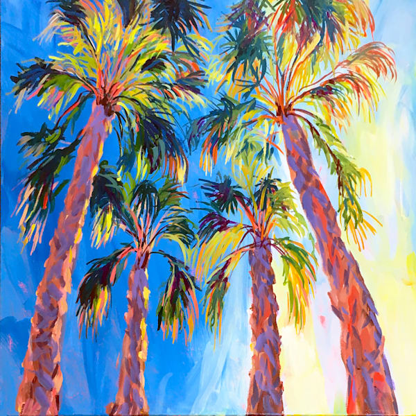 Sunrise Palms  Art | Charles Wallis