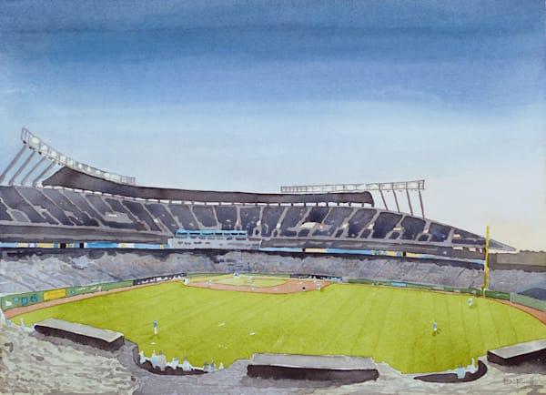 watercolor, kauffman, baseball