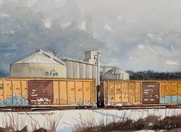 watercolor, trains, kansas-city