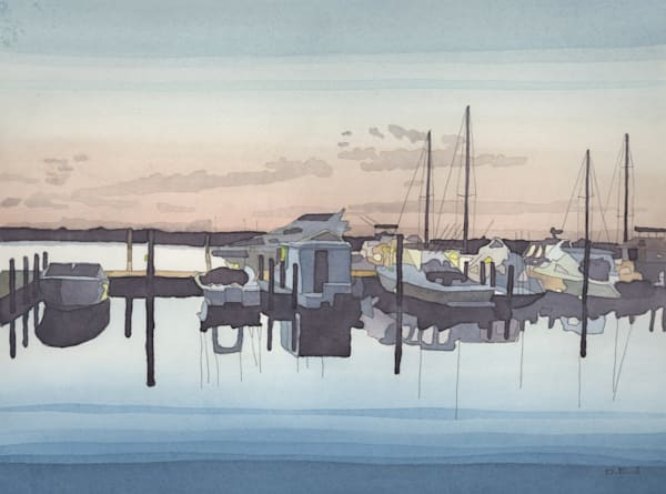 michigan, watercolor, leland, leelanau, art