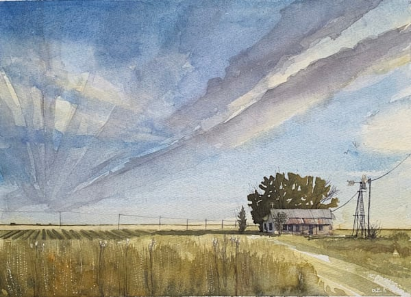 balmorhea, texas, watercolor, tx, art