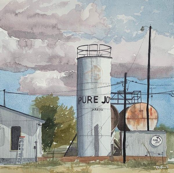 pure, joy, watercolor, marfa, texas, tx