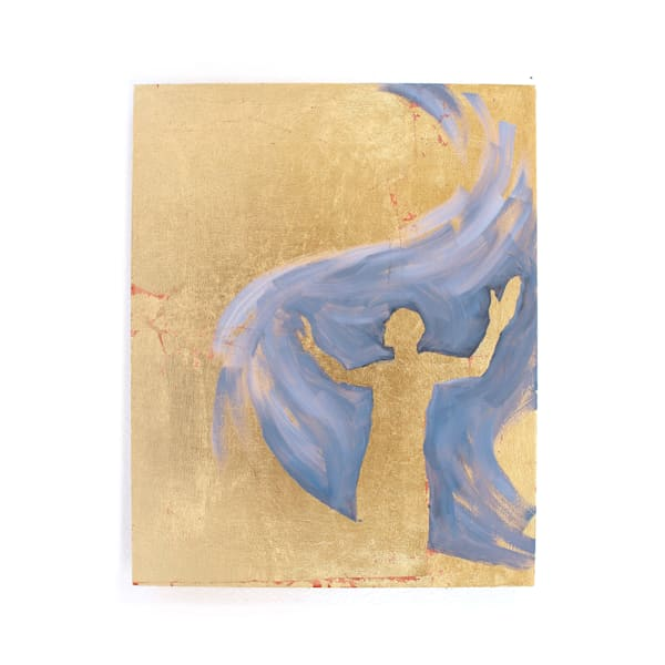 Jesus Calming Storm Gold Painting