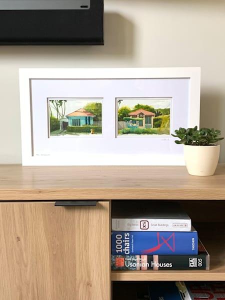 maui, paia, watercolor, neighbors, hawaii, art