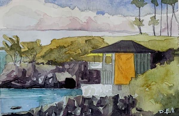 kapalua, cliff-house, watercolor, montage, maui, art, hawaii
