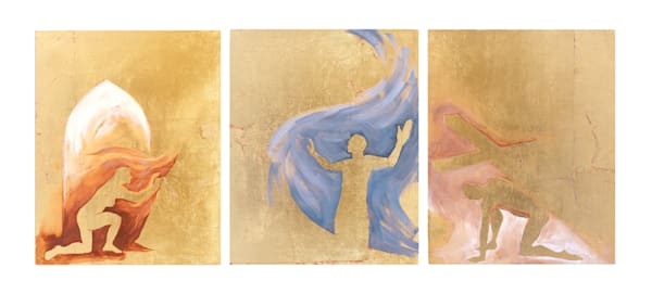 """Christ Sightings"" Triptych. Set Of 3 Original 8x10 Paintings Art 