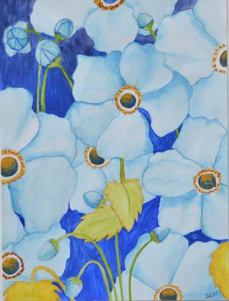 Blue Flowers Art | InspiringLee