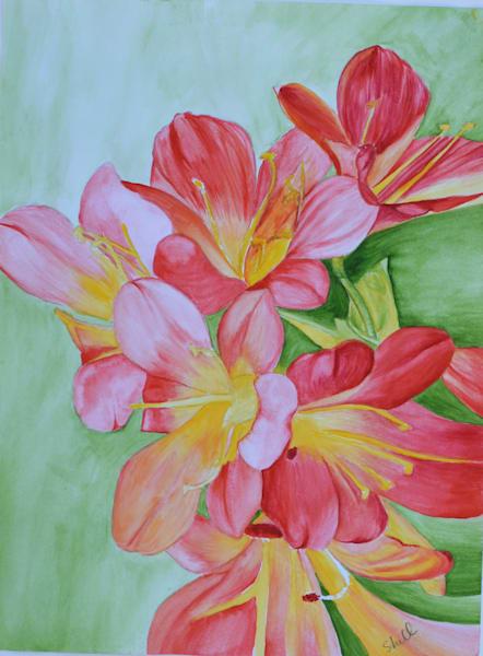 Red Lilies Art | InspiringLee