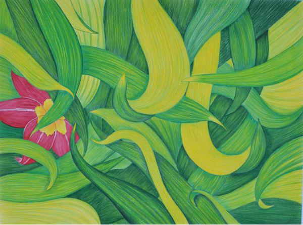 Flower In The Leaves #3 Art | InspiringLee