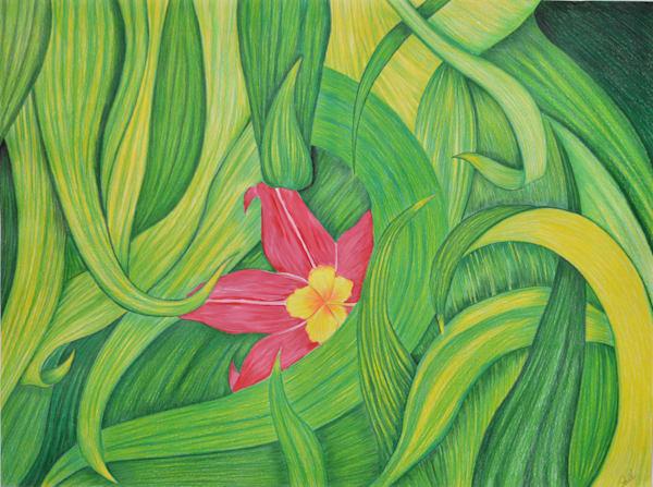 Flower In The Leaves #1 Art | InspiringLee