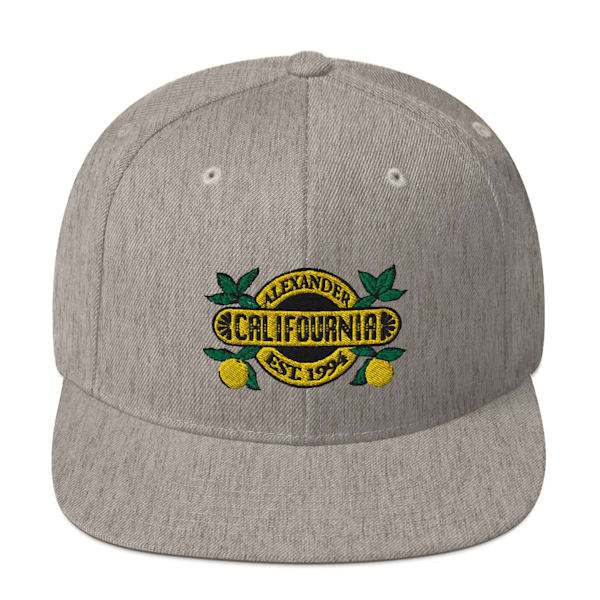 Grey Califournia Snapback Hat   Alex Ranniello Art